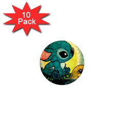 Stich And Turtle 1  Mini Magnet (10 Pack)