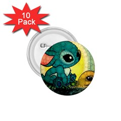 Stich And Turtle 1 75  Buttons (10 Pack)