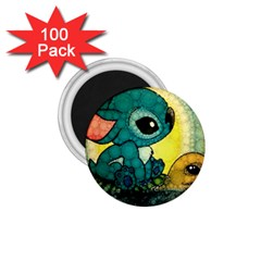 Stich And Turtle 1 75  Magnets (100 Pack)