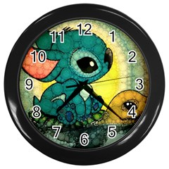 Stich And Turtle Wall Clocks (black)