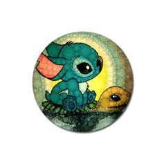 Stich And Turtle Magnet 3  (round)