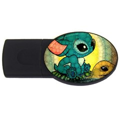 Stich And Turtle Usb Flash Drive Oval (4 Gb)