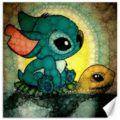 Stich And Turtle Canvas 16  X 16