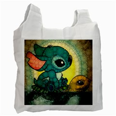 Stich And Turtle Recycle Bag (one Side)