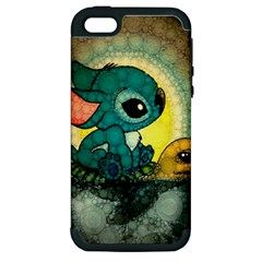 Stich And Turtle Apple Iphone 5 Hardshell Case (pc+silicone)