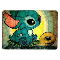 Stich And Turtle Samsung Galaxy Tab 10 1  P7500 Flip Case