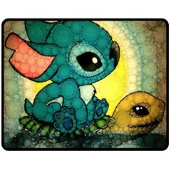 Stich And Turtle Double Sided Fleece Blanket (medium)