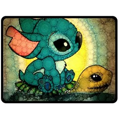 Stich And Turtle Double Sided Fleece Blanket (large)