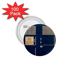 Tardis Poster 1 75  Buttons (100 Pack)