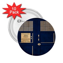 Tardis Poster 2 25  Buttons (10 Pack)