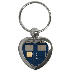 Tardis Poster Key Chains (heart)  by Samandel