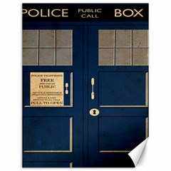 Tardis Poster Canvas 12  X 16   by Samandel