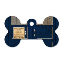 Tardis Poster Dog Tag Bone (two Sides)