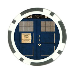 Tardis Poster Poker Chip Card Guard (10 Pack) by Samandel