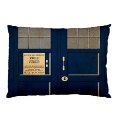 Tardis Poster Pillow Case (two Sides) by Samandel