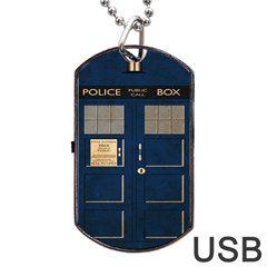 Tardis Poster Dog Tag Usb Flash (one Side) by Samandel