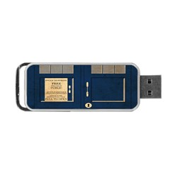 Tardis Poster Portable Usb Flash (one Side) by Samandel