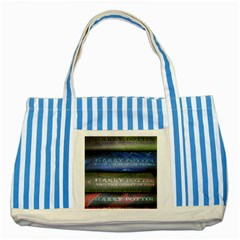 Comic Collection Book Striped Blue Tote Bag