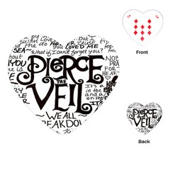 Pierce The Veil Playing Cards (heart)  by Samandel