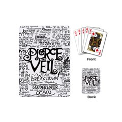 Pierce The Veil Playing Cards (mini)  by Samandel