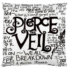 Pierce The Veil Large Cushion Case (two Sides) by Samandel