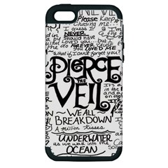 Pierce The Veil Apple Iphone 5 Hardshell Case (pc+silicone) by Samandel