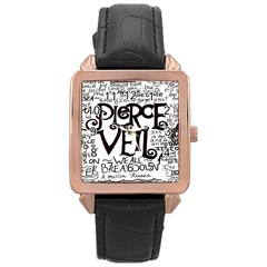 Pierce The Veil Rose Gold Leather Watch