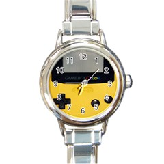 Game Boy Color Yellow Round Italian Charm Watch