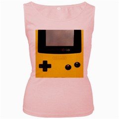 Game Boy Color Yellow Women s Pink Tank Top