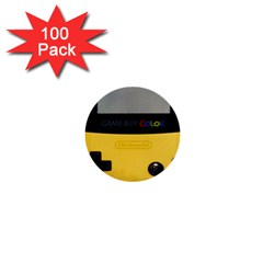 Game Boy Color Yellow 1  Mini Buttons (100 Pack)