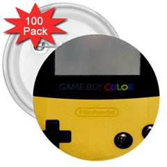 Game Boy Color Yellow 3  Buttons (100 Pack)