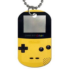 Game Boy Color Yellow Dog Tag (two Sides)