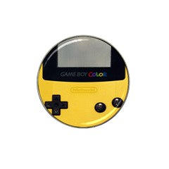 Game Boy Color Yellow Hat Clip Ball Marker (4 Pack)
