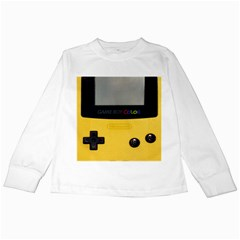 Game Boy Color Yellow Kids Long Sleeve T Shirts