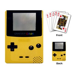 Game Boy Color Yellow Playing Card