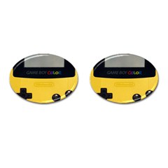 Game Boy Color Yellow Cufflinks (oval)