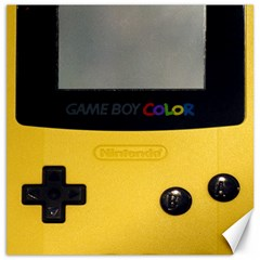 Game Boy Color Yellow Canvas 16  X 16