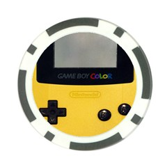 Game Boy Color Yellow Poker Chip Card Guard