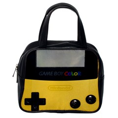 Game Boy Color Yellow Classic Handbags (one Side)