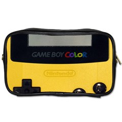 Game Boy Color Yellow Toiletries Bags
