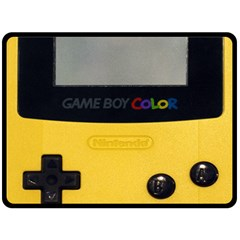 Game Boy Color Yellow Double Sided Fleece Blanket (large)