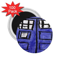 Tardis Painting 2 25  Magnets (100 Pack)