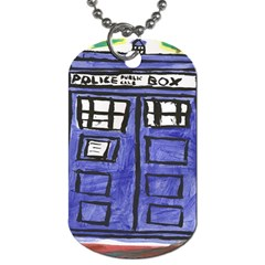 Tardis Painting Dog Tag (one Side)