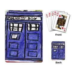 Tardis Painting Playing Card