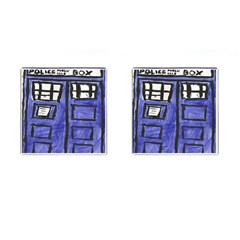 Tardis Painting Cufflinks (square)