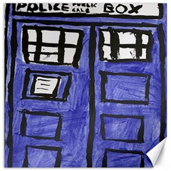 Tardis Painting Canvas 12  X 12