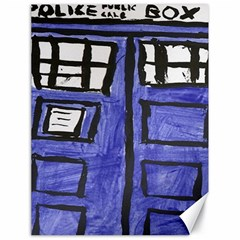 Tardis Painting Canvas 18  X 24   by Samandel