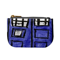Tardis Painting Mini Coin Purses