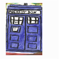 Tardis Painting Large Garden Flag (two Sides)