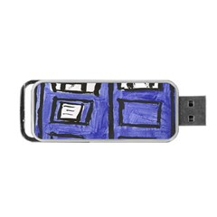 Tardis Painting Portable Usb Flash (one Side) by Samandel